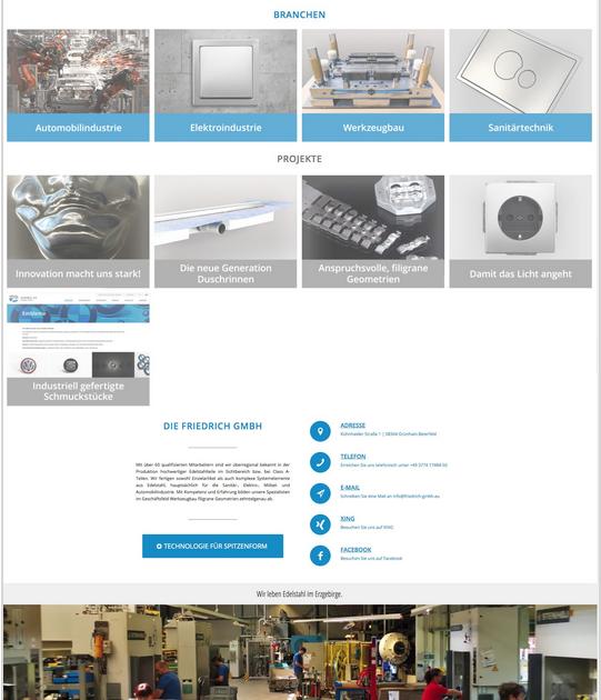 Neue Webseite der Friedrich GmbH
